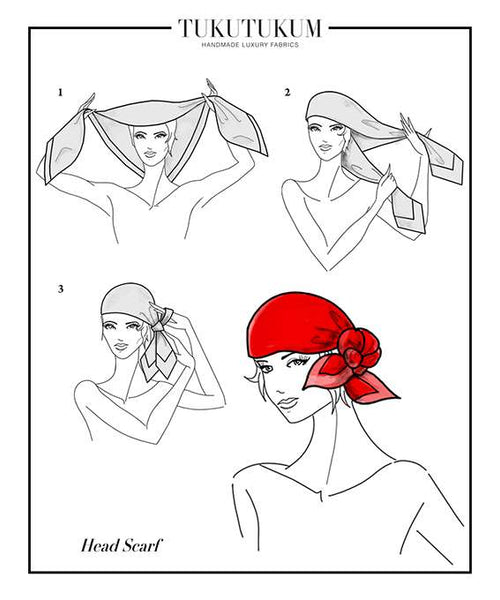 How to tie Head Scarf