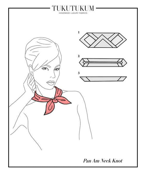 How to tie Scarf to make Pan Am Neck Knot