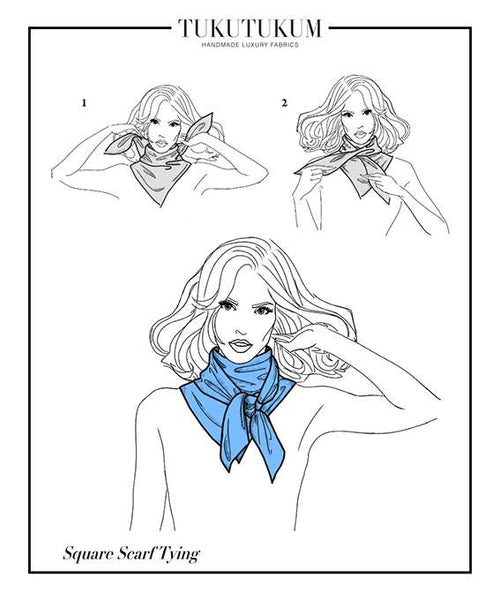 How to tie Scarf to make Square Scarf