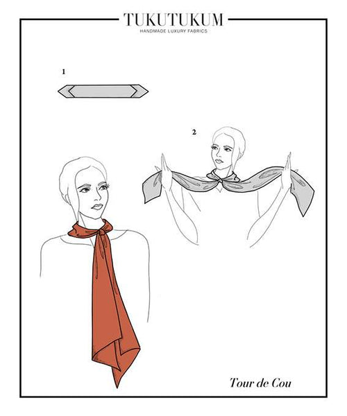 How to tie Scarf to make Tour De Cou