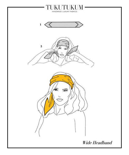 How to tie Scarf to make Wide Headband