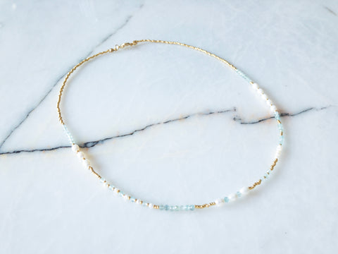 Zoey Natural Pearl Apatite Necklace