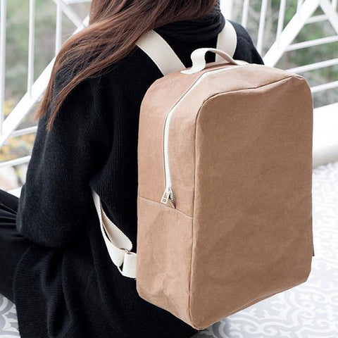 Handmade Paper Brown Backpack