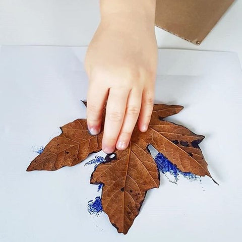 Coloured leaf print