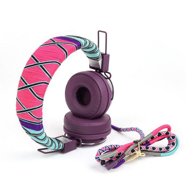 Colorful Happy-Nes headphone handcrafted on New Urbanears Plattan 2