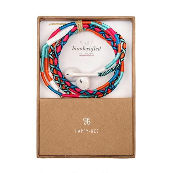 happynes branded colorful Apple iPhone 6 Earphones | Rainbow Falls - hippist.co.uk