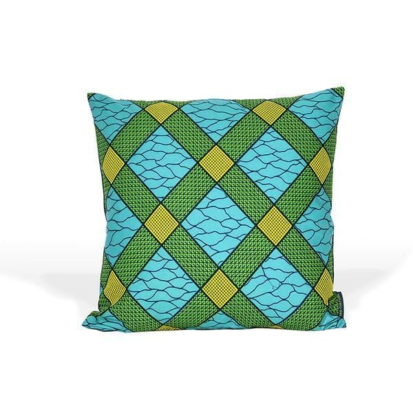 massawa green and blue colour cushion cover