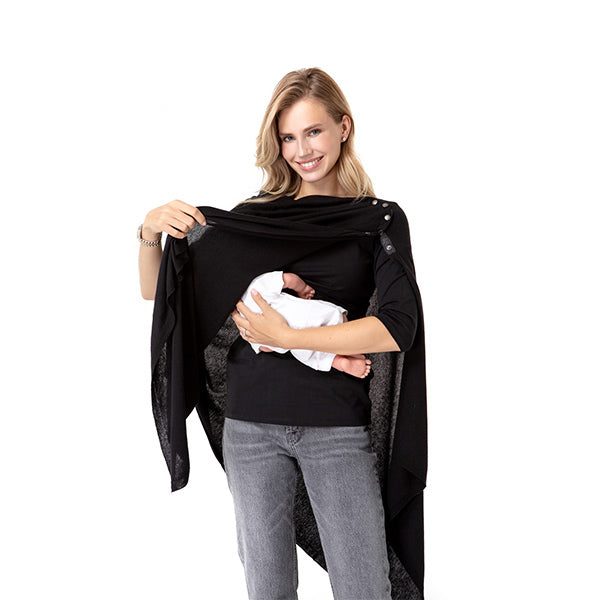 4in1 Multipurpose Black Pregnancy and Nursing Knitwear