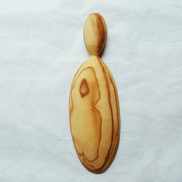Olive wood hand-carved scoop