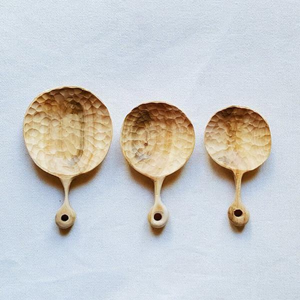 Olive wood hand-carved spoons