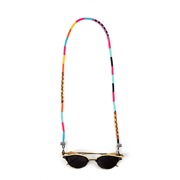 blue pink sky blue orange yellow black Eyeglass Lanyard | Cosmic - hippist.co.uk