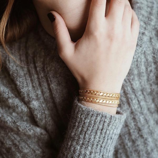Adel Braid Bracelet | Gold Chain Accessories Luna Merdin