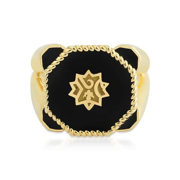 Adel Ring | Black Gold Accessories Luna Merdin