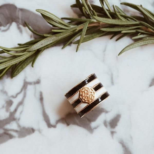 Adel Ring | Stripe Gold Accessories Luna Merdin
