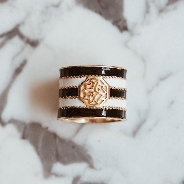 Adel Ring | Stripe Gold