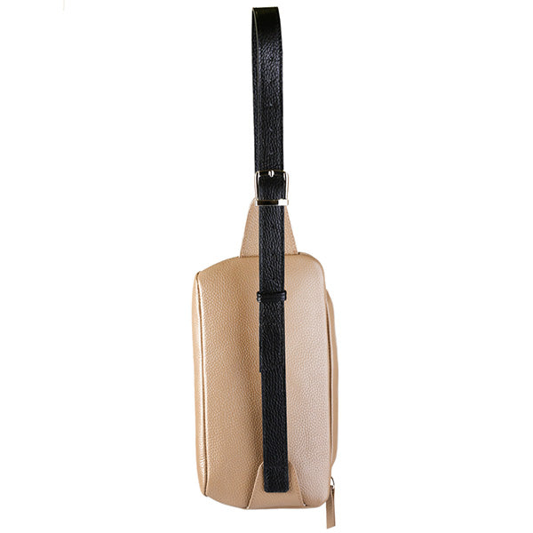 premium leather beige colour belt bag's back