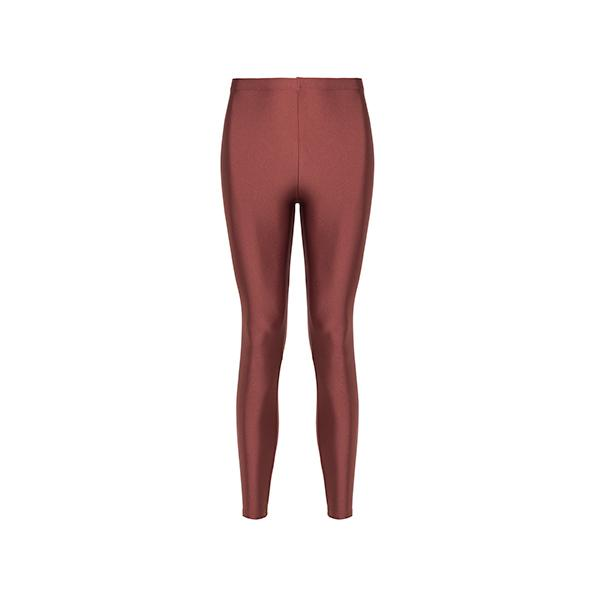 comfortable shiny anais margaux branded cinnamon colour full lenght legging