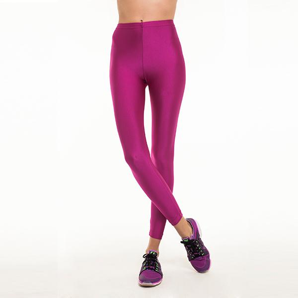 comfortable shiny anais margaux branded fuchsia colour full lenght legging