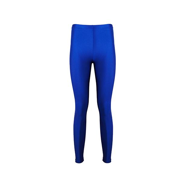 comfortable shiny anais margaux branded saxe blue colour full lenght legging