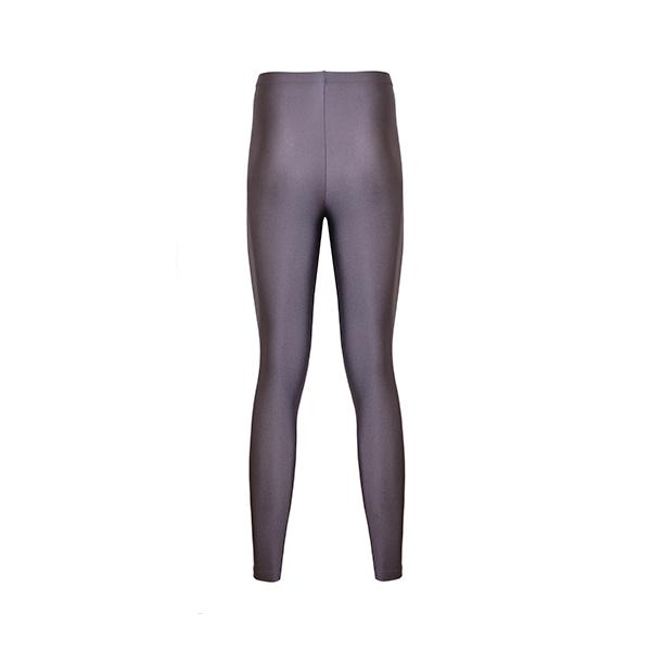 comfortable shiny anais margaux branded violet grey colour full lenght legging