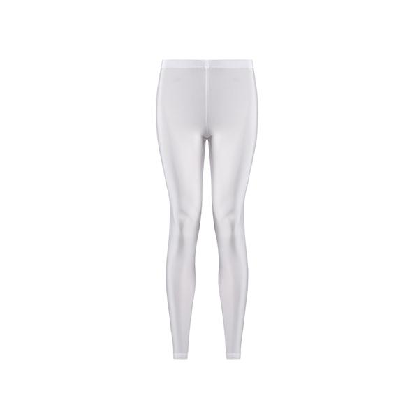 comfortable shiny anais margaux branded white colour full lenght legging