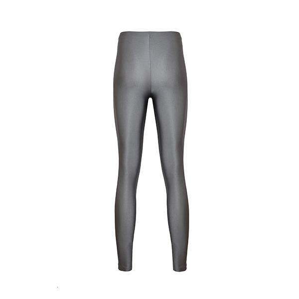 comfortable shiny anais margaux branded light grey colour full lenght legging