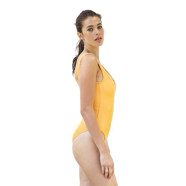 Alice Zipper Swimsuit | Yellow Swimwear Movom