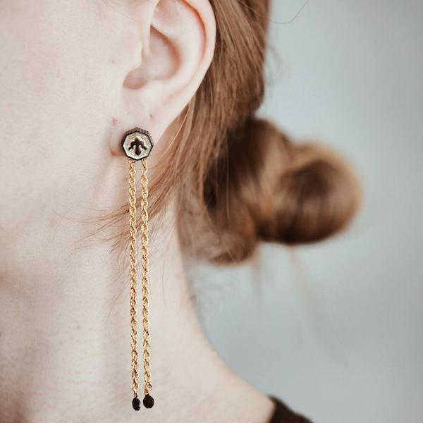 Alka Earring | Gold Accessories Luna Merdin
