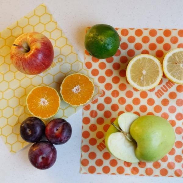 Reusable Beeswax Wrap | Cheese Pack | Set of 3 Medium Sized Wraps