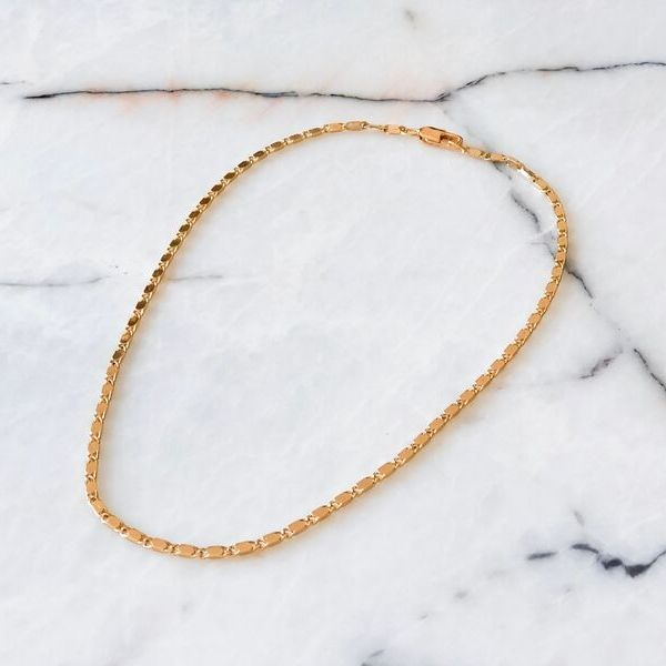 Allure Gold Plated Chain Necklace
