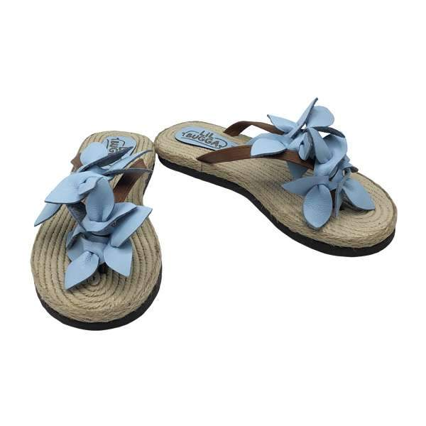 Aloha Leather Sandals | Blue Baby Shoes Lil Bugga