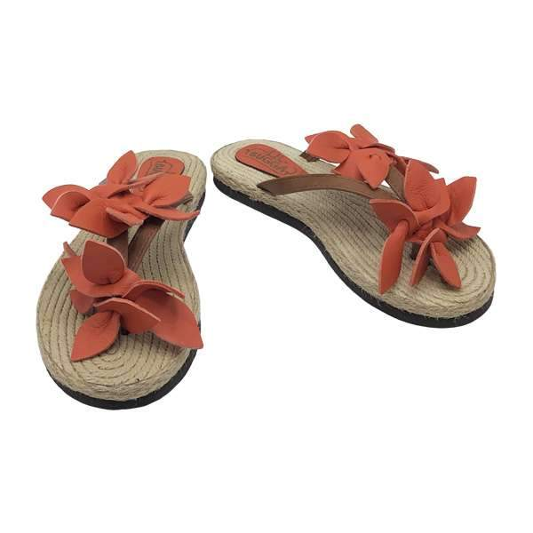 Aloha Leather Sandals | Orange Baby Shoes Lil Bugga