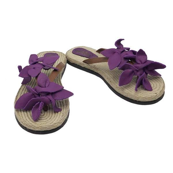 Aloha Leather Sandals | Purple Baby Shoes Lil Bugga