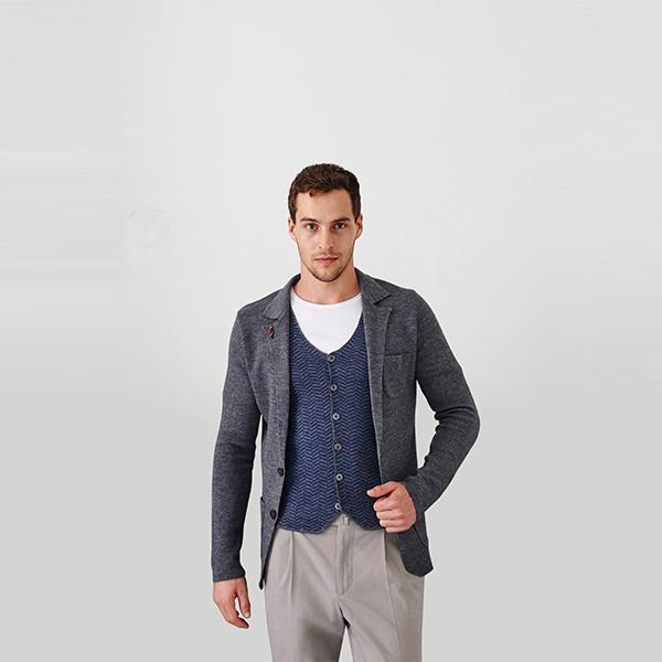 Amedeo Blazer | Grey Polo Shirt Port Royale