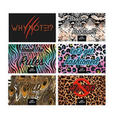 6 different animal print cards