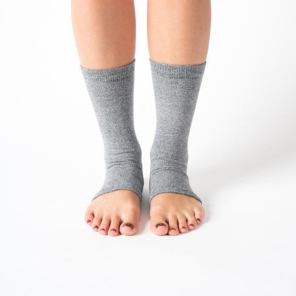 ankle grey colour yoga pilates socks