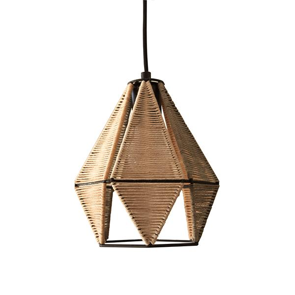 brown colour hand dyed lamp handcrafted from natural cotton for interior design