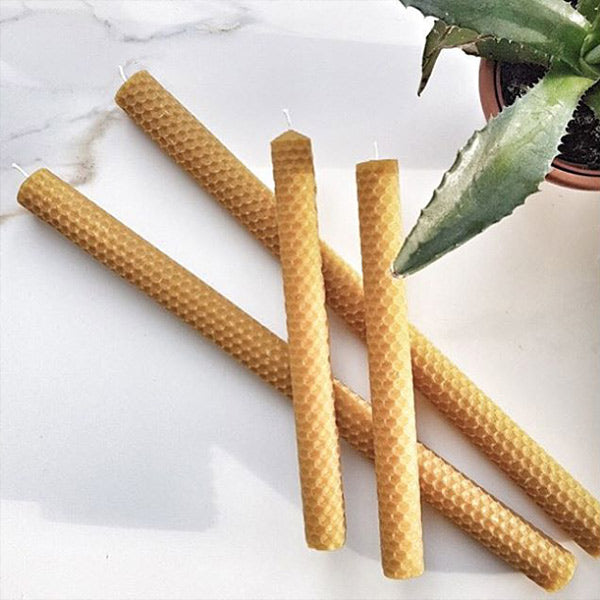 Cru B'Roll | 4 Pieces Beeswax Candles