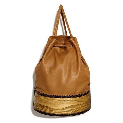 Coconut Mini Backpack | Brown Washed Canvas