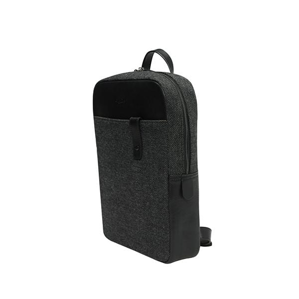 black vegetable leather unisex backpack at hippist
