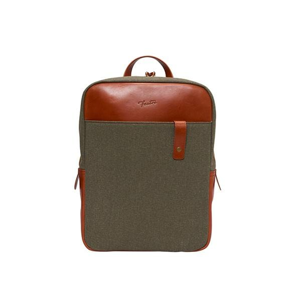 tobacco vegetable leather unisex backpack at hippist