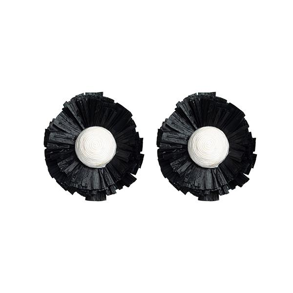 Bloom Earrings | Black Jewellery Ponponiere