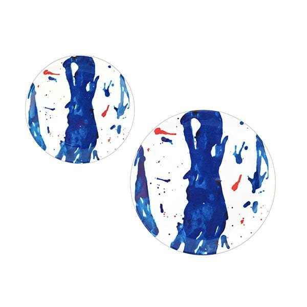 Melamine Dinner Plate | Blue Art