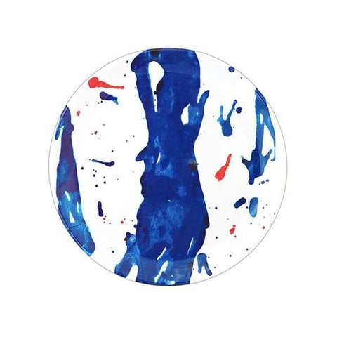 Blue Art Melamine Dinner Plate