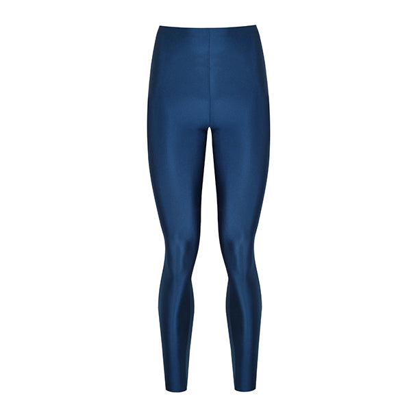 blue diamond coloured shiny legging innovative body shaping with total comfort