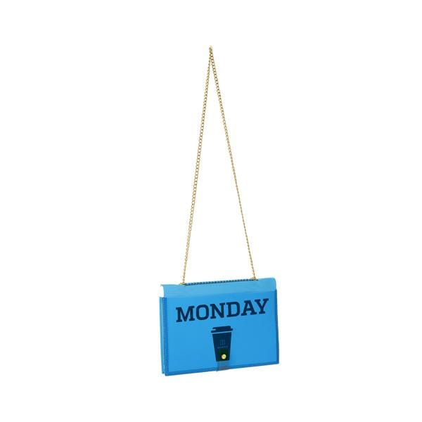 why note!? branded fun note bag series neon blue notebook bag with days cards