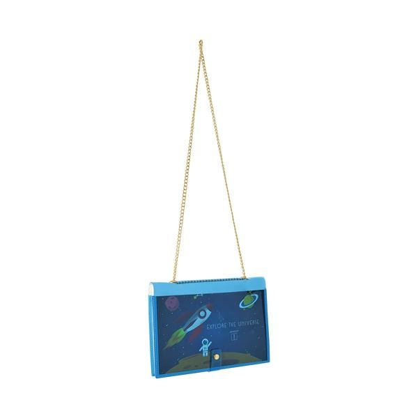 why note!? branded fun note bag series neon blue notebook bag with kids cards