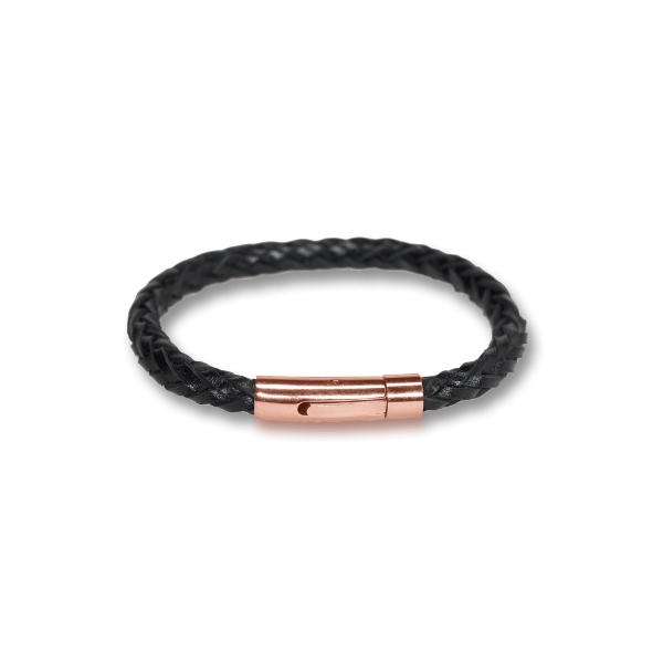 black vegetable leather unisex bracelet at hippist
