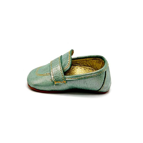 baby mint colour handmade comfortable moccasins for first step