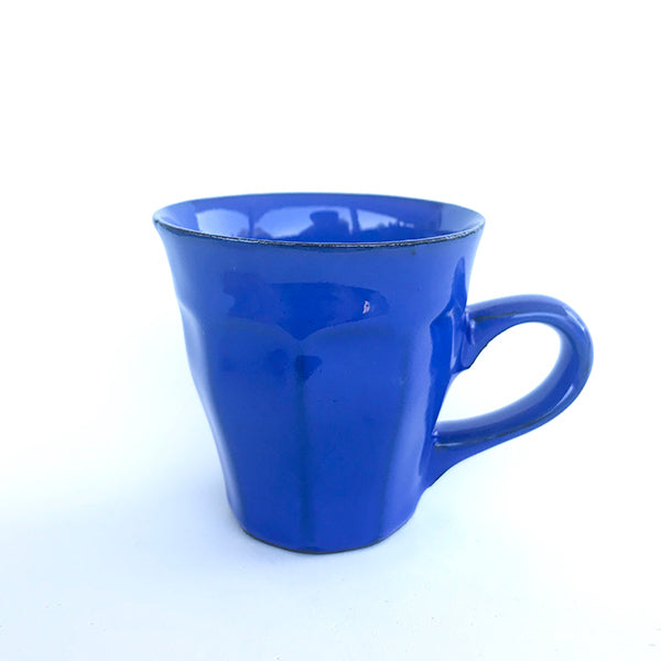 handmade ceramic blue colour tea and coffee cup at hippist